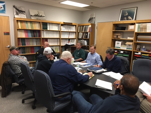 Photo of an Equipment Services Division Meeting