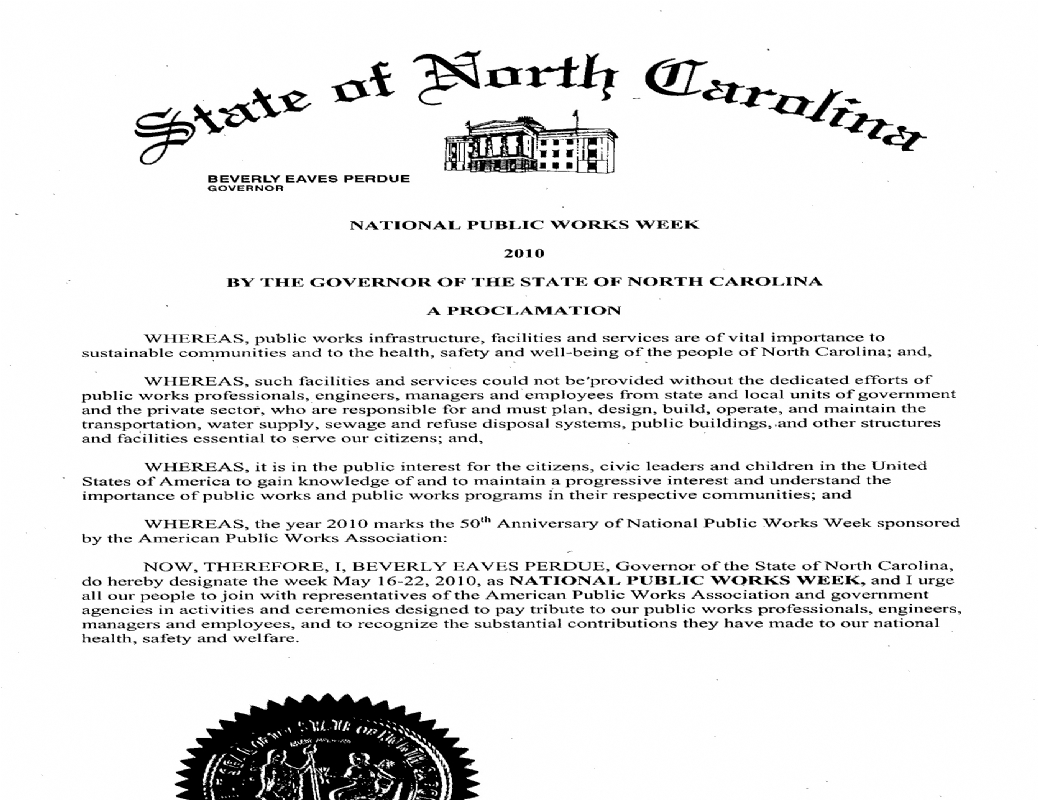 State of North Carolina - Governor Perdue.jpg